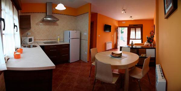Una cocina salón de los Apartamentos Casa Carín